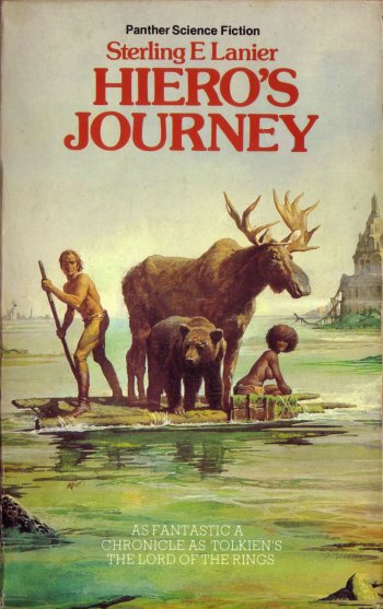 """Hiero's Journey""  Sterling E. Lanier, cover artist Gino D'Achille, 1985 (Panther / Granada) — «Путешествие Иеро» Стерлинг Ланье, художник Джино Д'Ачиле"