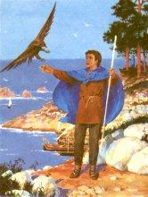 Иллюстрация на суперобложку издания «Волшебник Земноморья» в серии fantasy