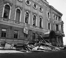 После пожара: вид с Кричевского переулка