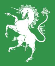 Единорог, правосторонний геральдический