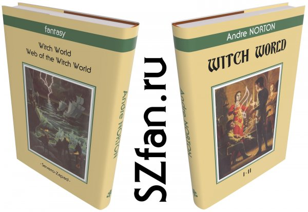 Witch World by Andre Norton book dust jacket — English dust jacket (virtual)
