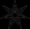 Эльфийская звезда, гептаграмма, септаграмма, семиконечная, симилучёвая звезда, Звезда магов, Септенер, Семирица, Семирида, Семириада, Гептаграмма, Гетада, Вифлеемская звезда, звезда Волхвов, Рождественская звезда (Fairy Star, Elven Star, Heptagram)