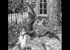 Михаил Алексеевич Новиков «Ведьмак» — внутренная чёрно-белая иллюстрация к «Последнему желанию»